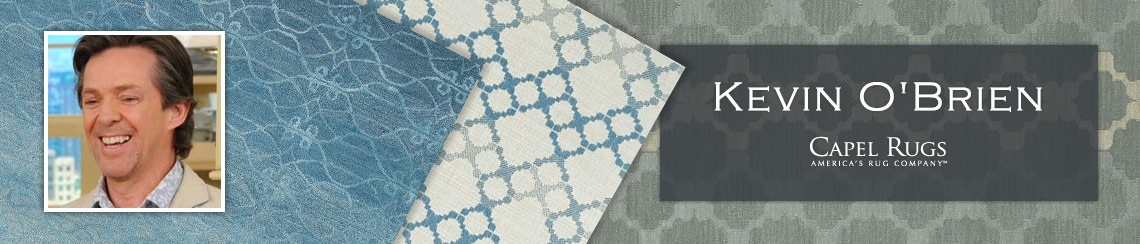 Capel area rugs designed by Kevin O'Brien