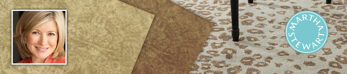 Area rugs designed by Martha Stewart