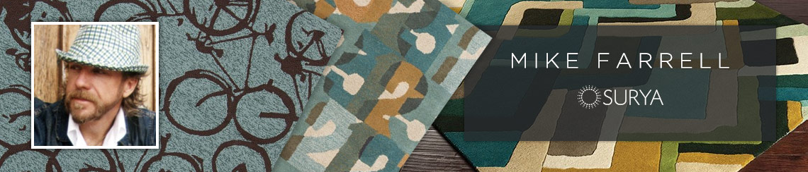 Area rugs designed by Mike Farrell