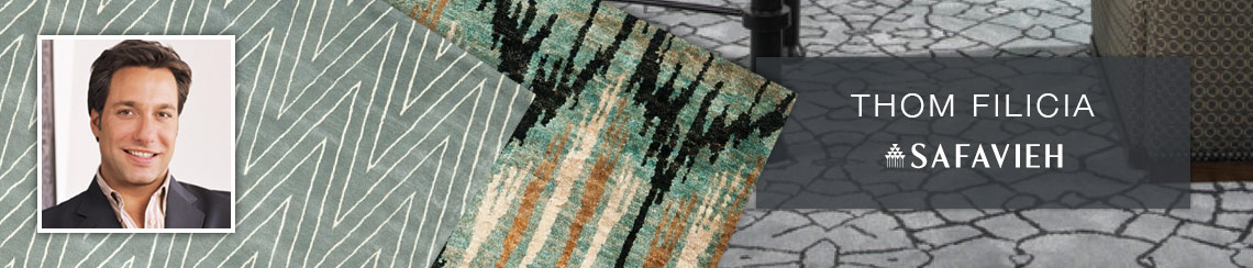 Safavieh area rugs designed by Thom Filicia