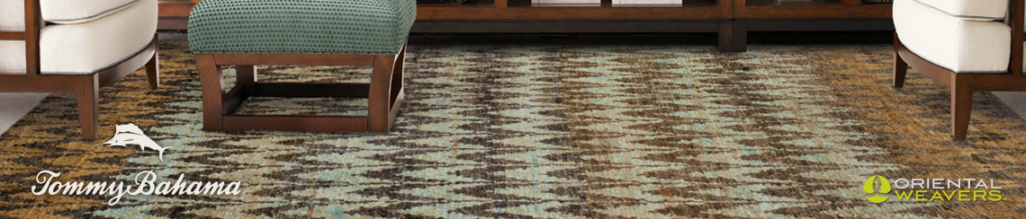 Area rugs designed by Tommy Bahama for Oriental Weavers