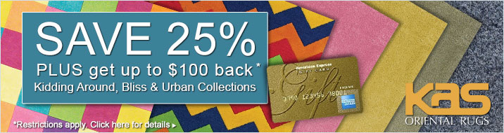 KAS Oriental - save 25% plus get up to $100 back on selected collections.