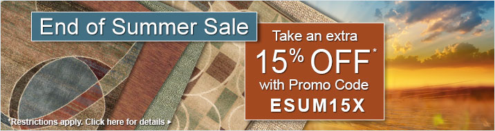 Take an extra 15% off your order with promo code ESUM15X.