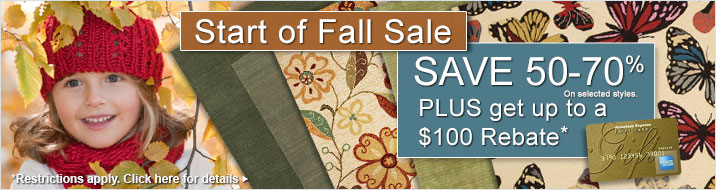 Save 50-70% plus get up to $100 back on your order of area rugs.