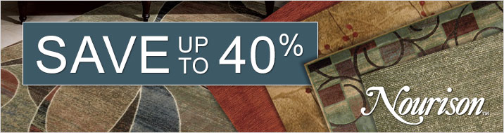 Save up to 40% on Nourison area rugs