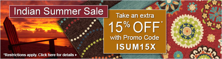 Indian Summer Sale - take an extra 15% off your purchase
