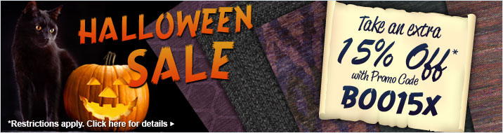 Halloween Sale - take an extra 15% off your order of area rugs