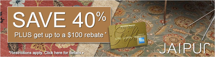 Jaipur Rugs - save 40% plus get up to $100 back