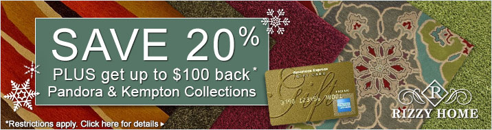 Rizzy Home - save 20% plus get up to $100 back on the Pandora and Kempton collections