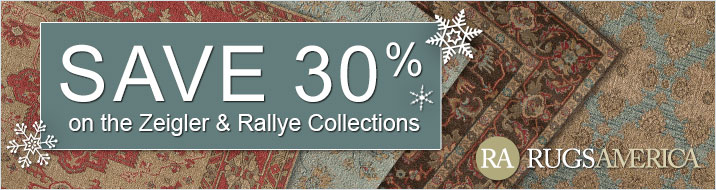 Rugs America - save 30% on the Zeigler and Rallye collections