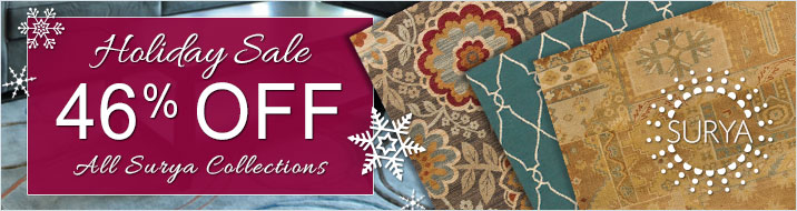 Surya Holiday Sale - save 46% on all collections