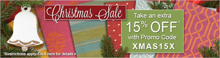 Christmas Sale - take an extra 15% off your order with Promo Code XMAS15X
