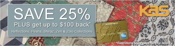 KAS Oriental - save 25% plus get up to $100 back on selected collections