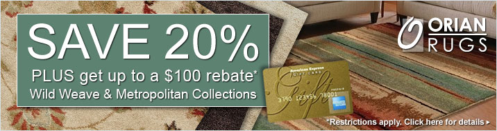 Orian Rugs - save 20% plus get up to $100 back on the Wild Weave and Metropolitan Collections