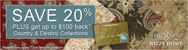 Rizzy Home - save 20% plus get up to $100 back on the Country and Destiny Collections