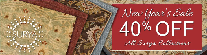 Surya New Year's Sale - save 40% on all Surya collections