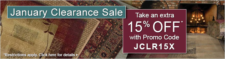January Clearance Sale - save an extra 15% with promo code JCLR15X
