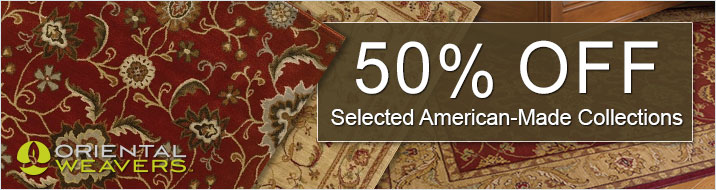 Oriental Weavers - save 50% on rugs made in USA
