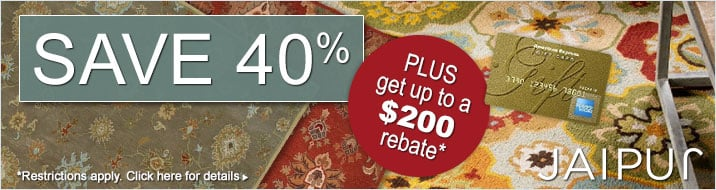 Jaipur Rugs - Save 40% plus get up to $200 back.