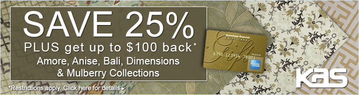 KAS Oriental - Save 25% plus get up to $100 back on the Amore, Anise, Bali, Dimensions and Mulberry Collections