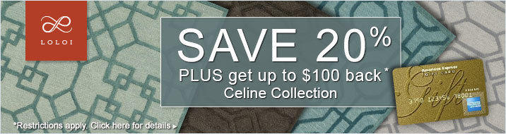 Loloi Rugs - Save 20% plus get up to $100 back on the Celine Collections.