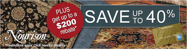 Nourison - Save up to 40% plus get up to $200 back.