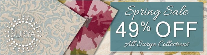 Surya Spring Sale - save 49% on all collections.