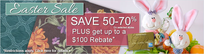 Easter Sale - save 50-70% plus get a rebate of up to $100.
