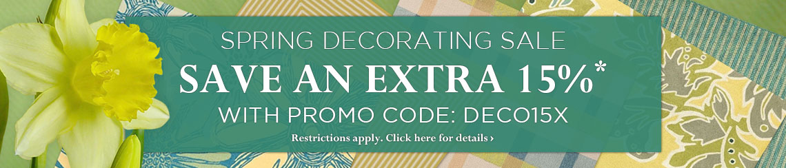 Spring Decorating Sale - take an extra 15% with Promo Code DECO15X