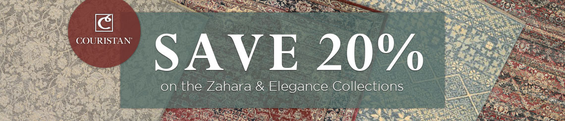Couristan - Save 20% on the Zahara and Elegance Collections