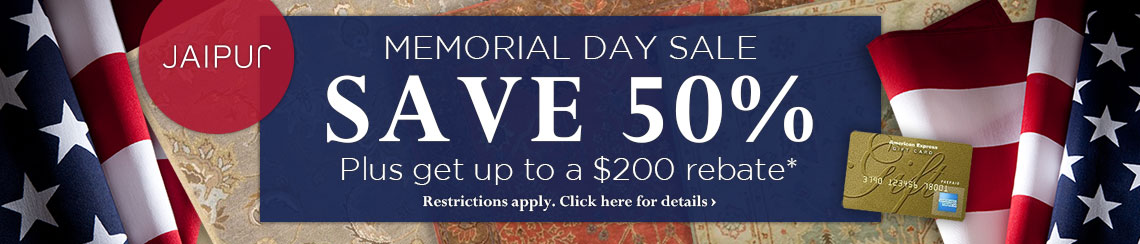 Jaipur Rugs - Memorial Day Sale - Save 50% plus get up to $200 back.