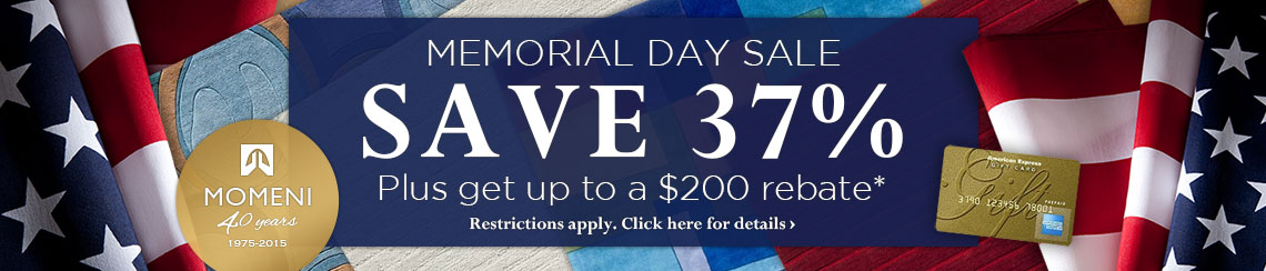 Momeni - Memorial Day Sale - Save 37% plus get up to $200 back.