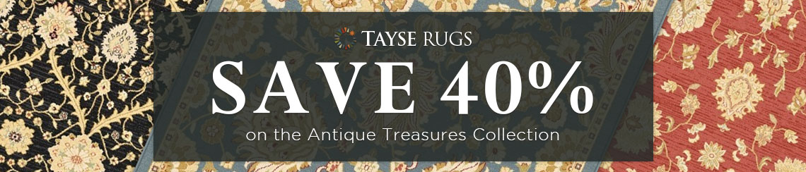 Tayse Rugs - Save 40% on the AntiqueTreasures Collection.