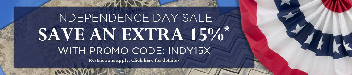 Independence Day Sale - Take an Extra 15% off with Promo Code INDY15X.