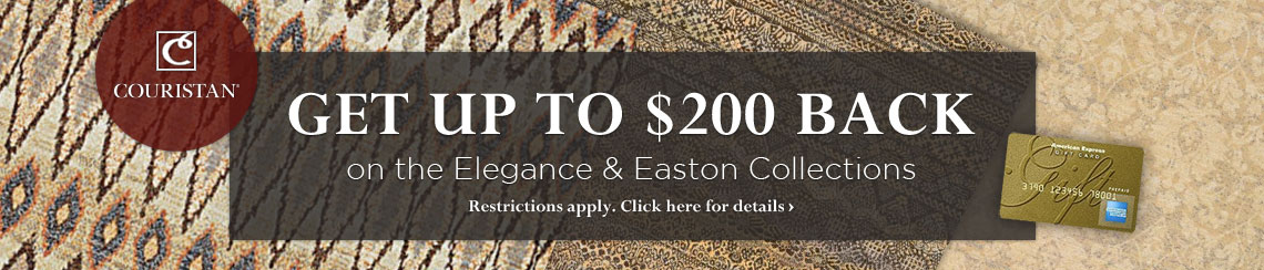 Couristan - Get up to $200 back on the Elegance and Easton collections.