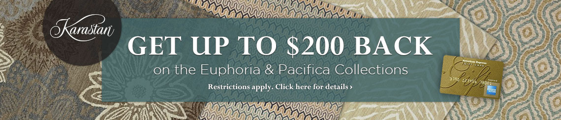 Karastan - Get up to a $200 rebate on selected collections.