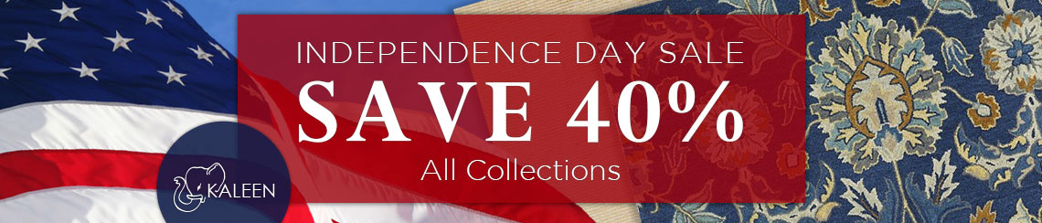 Kaleen Independence Day Sale - Save 40% on all collections.