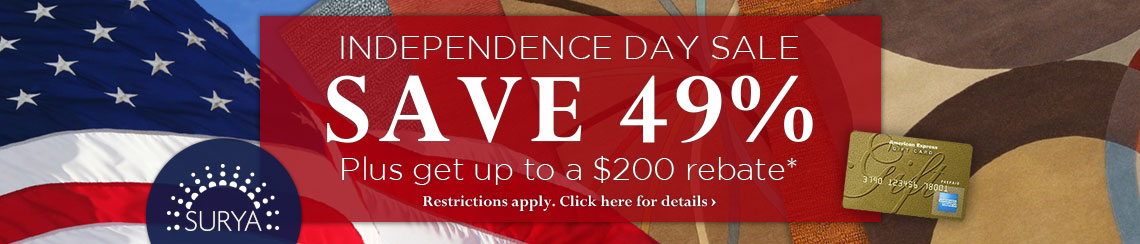 Surya Independence Day Sale - Save 49% plus get up to a $200 rebate.