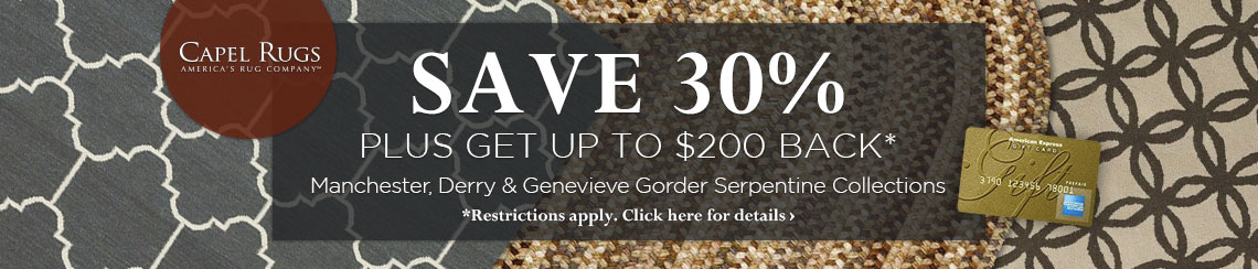 Capel Rugs - Save 30% plus get a rebate on selected collections.