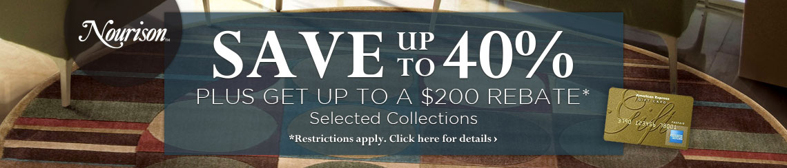 Nourison - Save up to 40% plus get up to $200 back on selected collections.