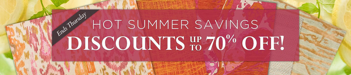Hot Summer Savings - Discounts up to 70% off!