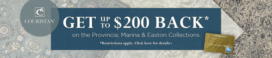 Couristan - get up to $200 back on selected collections.