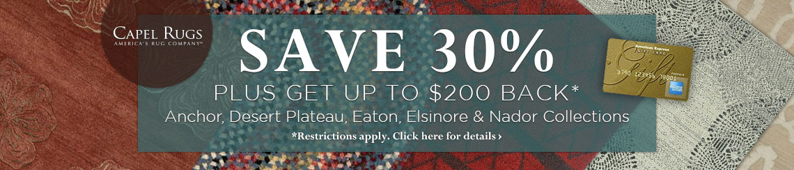 Capel Rugs - Save 30% plus get up to $200 back on selected collections.
