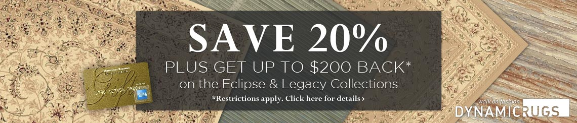 Dynamic Rugs - Save 20% plus get up to $200 back on selected collections.