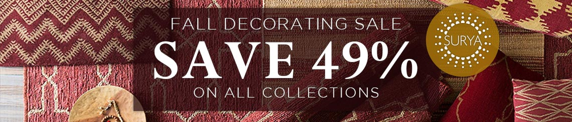 Surya Fall Decorating Sale - Save 49% on all collections.