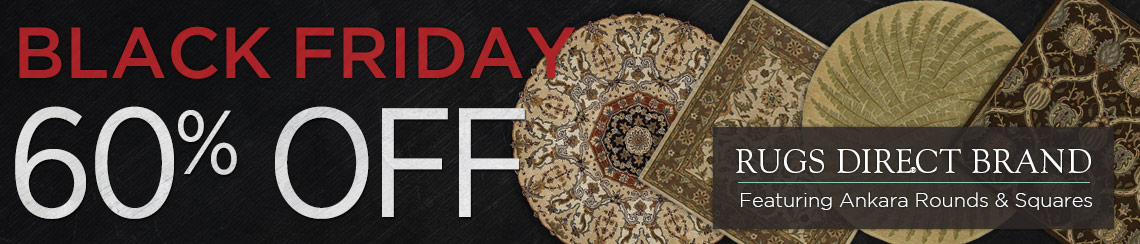 Rugs Direct Brand - Save 60% on Ankara rounds and squares.