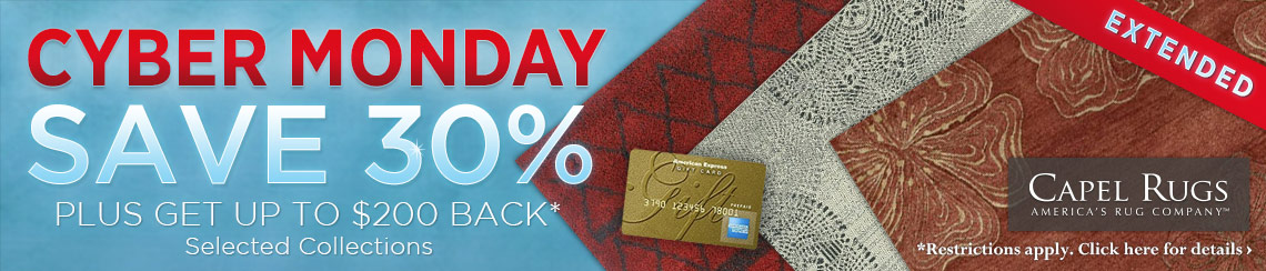Capel Rugs - Saven 30% plus get up to $200 back.