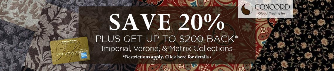 Concord Global - Save 20% plus get up to $200 back on selected collections.
