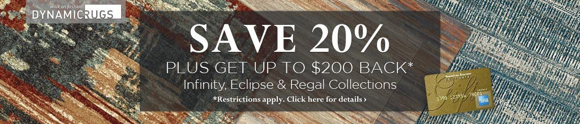 Dynamic Rugs - Save 20% plus get up to $200 back.