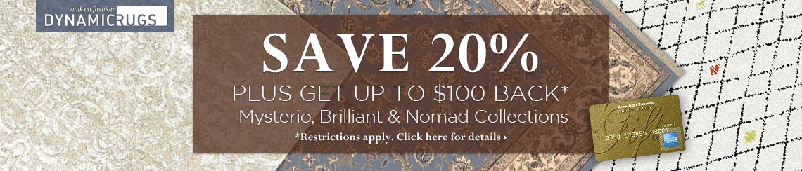 Dynamic Rugs - Save 20% plus get up to a $100 rebate.